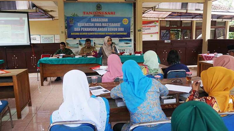 Edukasi kesehatan jiwa kepada tokoh masyarakat di Kecamatan Tanjungsari Gunungkidul.